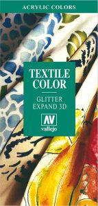 Vallejo Textile Color, Glitter and Expand 3D