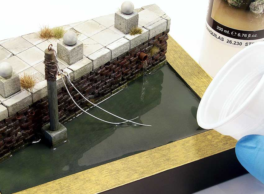 water textures on dioramas