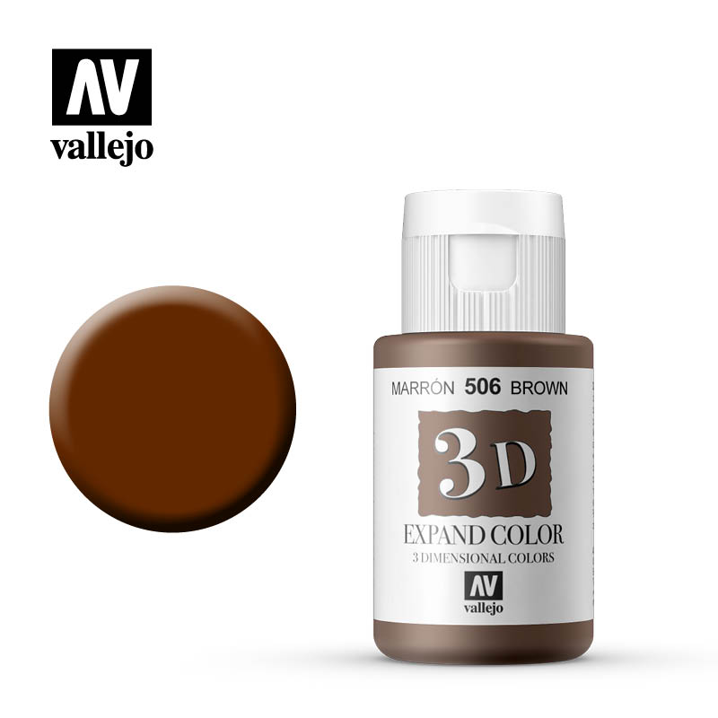 3d expand vallejo color brown 506