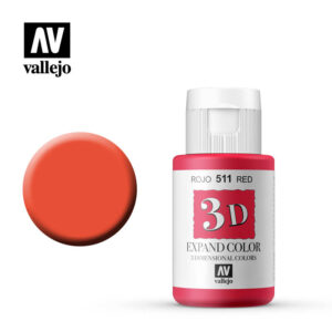 3d expand vallejo color red 511