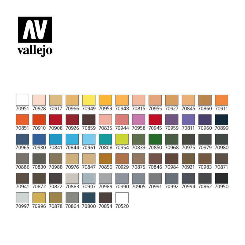 Vallejo Model Color Combination Colors Case 70175
