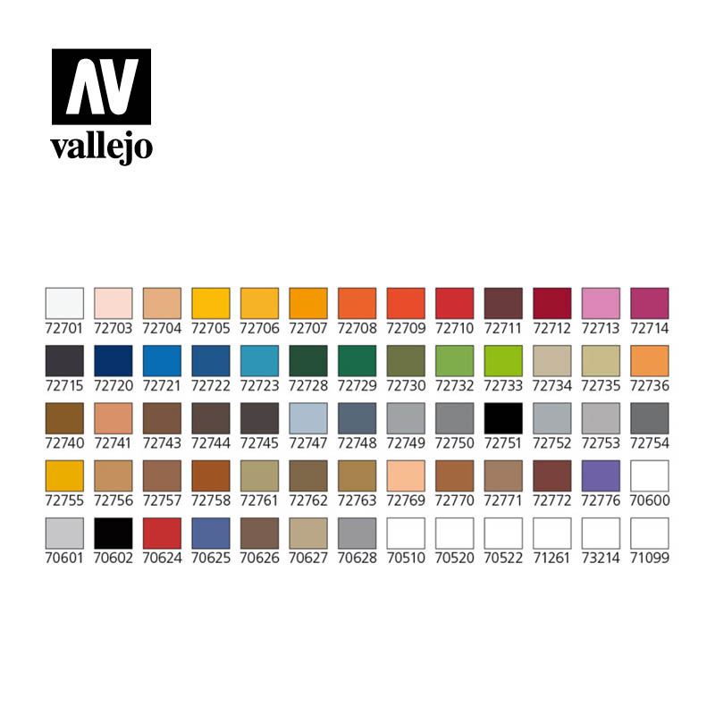 Vallejo game air colors case 72872