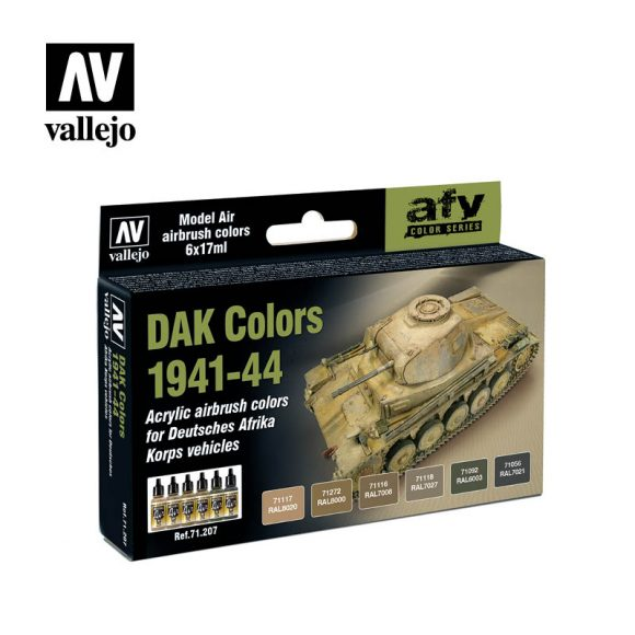 DAK colors 1941 1944 vallejo afv 71207