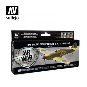 RAF Colors Desert Scheme & MTO 1940 1945 vallejo airwar 71163