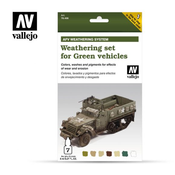 Weathering Set for Green vehicles vallejo afv 78406