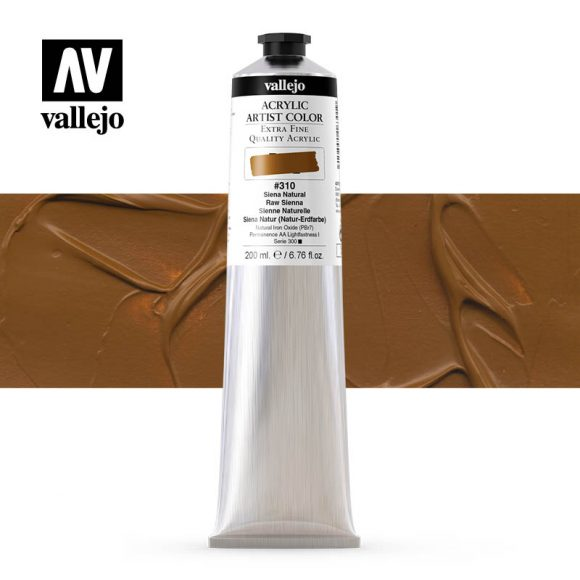 acrylic artist color vallejo raw sienna 310 200ml