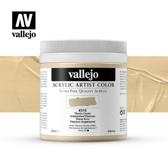 acrylic artist color vallejo unbleached titanium 315 500ml