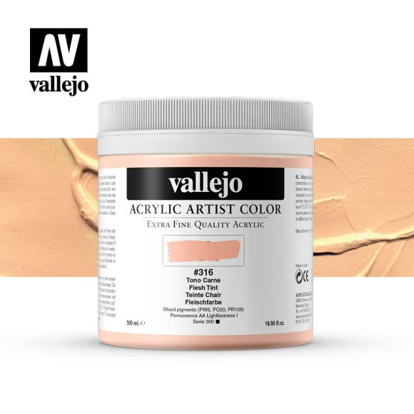 acrylic artist color vallejo flesh tint 316 500ml
