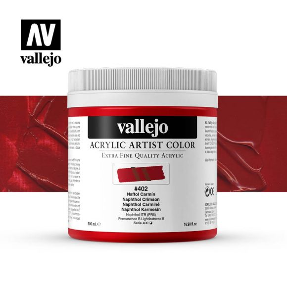 acrylic artist color vallejo naphthol crimson 402 500ml