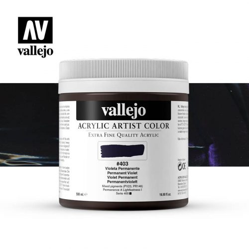 acrylic artist color vallejo permanent violet 403 500ml