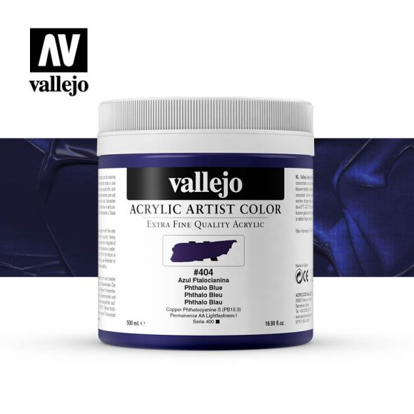 acrylic artist color vallejo phthalo blue 404 500ml