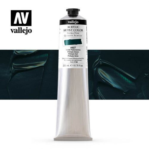 acrylic artist color vallejo phthalo green 407 200ml