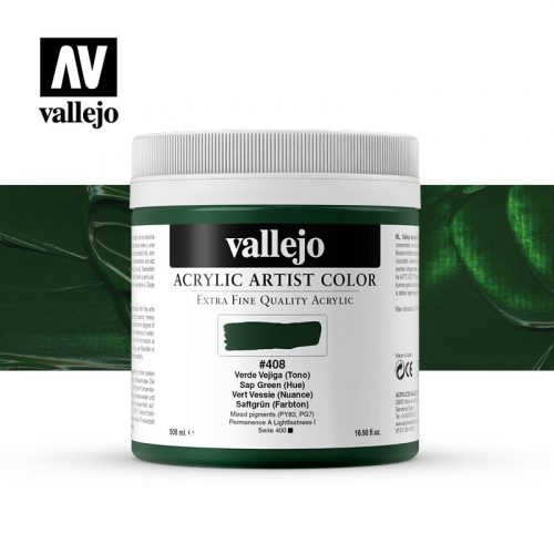 acrylic artist color vallejo sap green hue 408 500ml