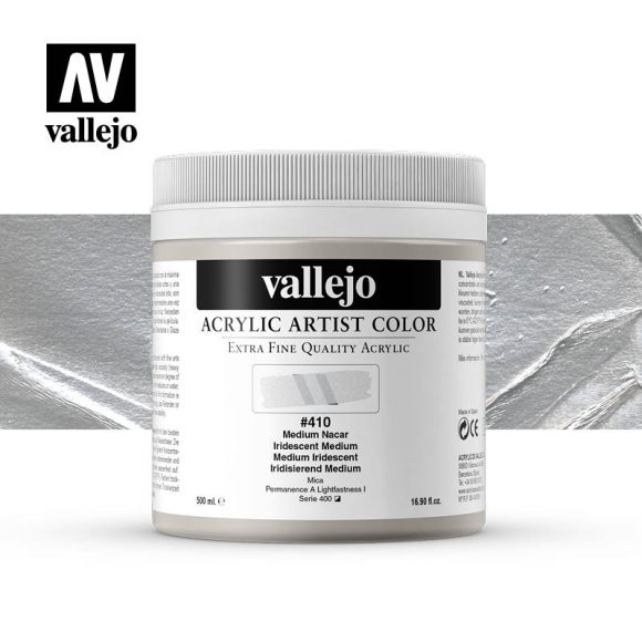 acrylic artist color vallejo iridescent medium 410 500ml