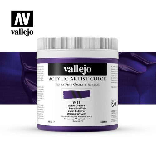 acrylic artist color vallejo ultramarine violet 413 500ml