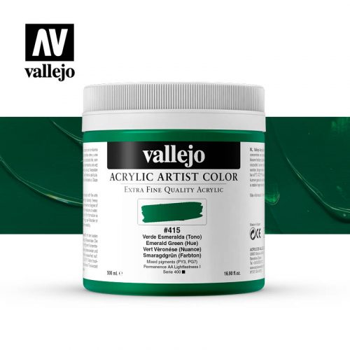 acrylic artist color vallejo emerald green hue 415 500ml
