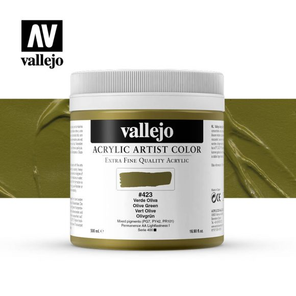 acrylic artist color vallejo olive green 423 500ml