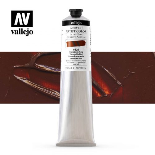 acrylic artist color vallejo transoxide red 425 200ml