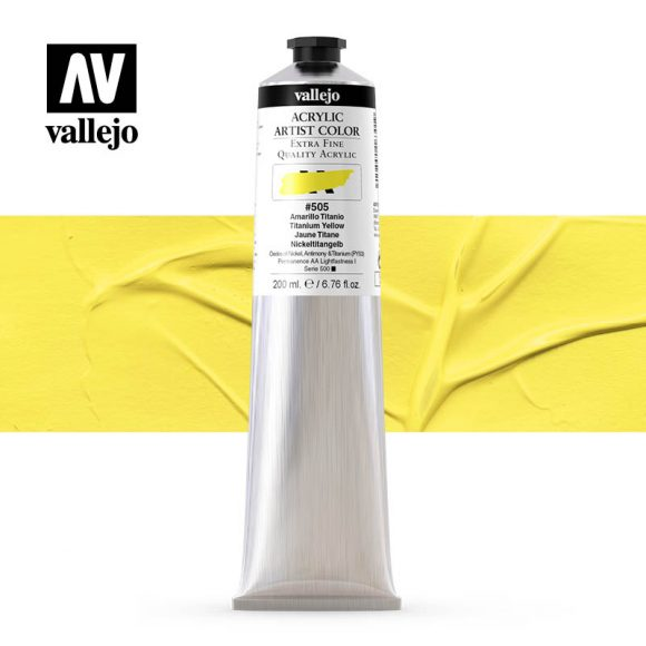 acrylic artist color vallejo titanium yellow 505 200ml