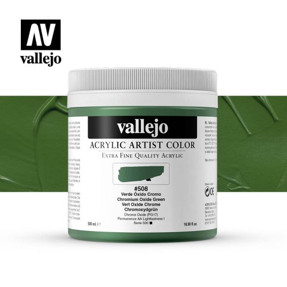 acrylic artist color vallejo chromium oxide green 508 500ml