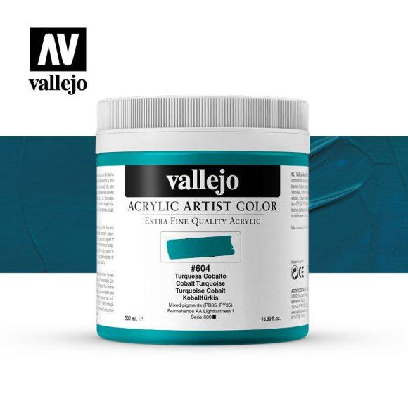 acrylic artist color vallejo cobalt turquoise 604 500ml