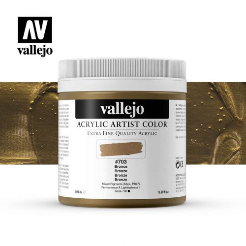 acrylic artist color vallejo bronze 703 500ml