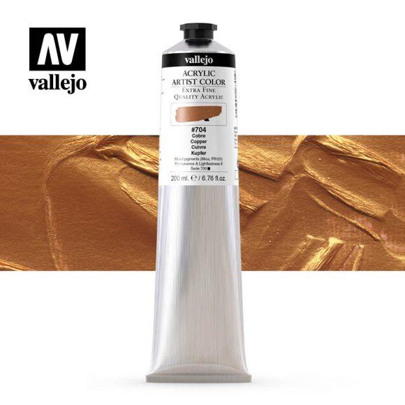 acrylic artist color vallejo copper 704 200ml