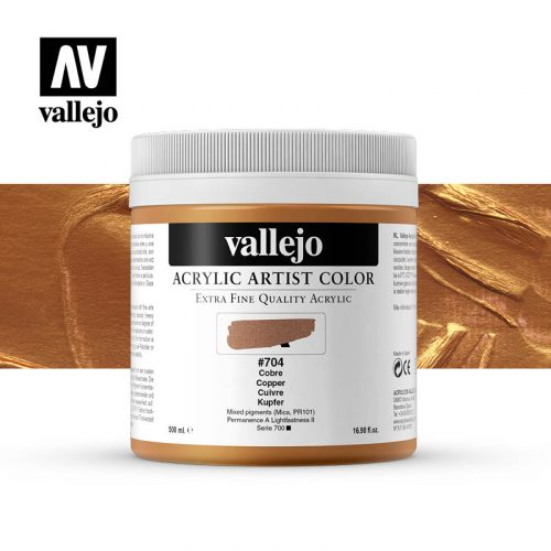 acrylic artist color vallejo copper 704 500ml