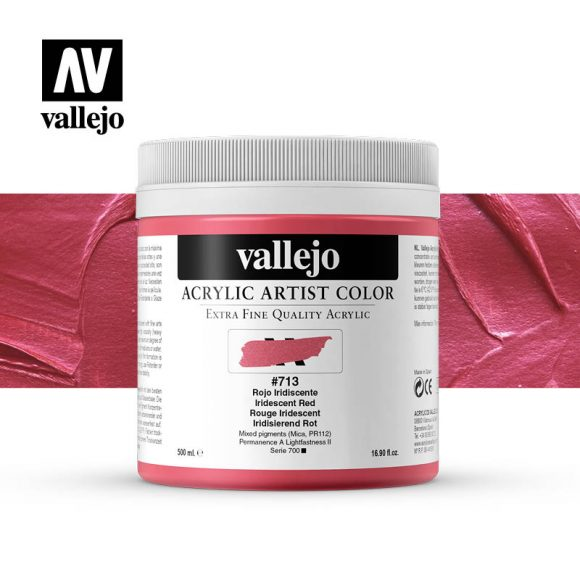 acrylic artist color vallejo iridescent red 713 500ml