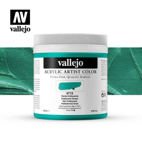 acrylic artist color vallejo iridescent green 715 500ml