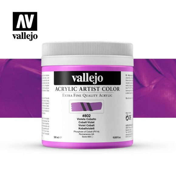 acrylic artist color vallejo cobalt violet 802 500ml