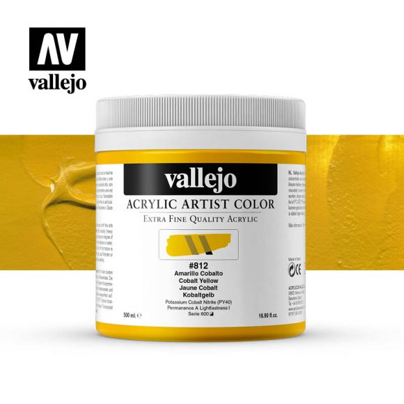 acrylic artist color vallejo cobalt yellow 812 500ml