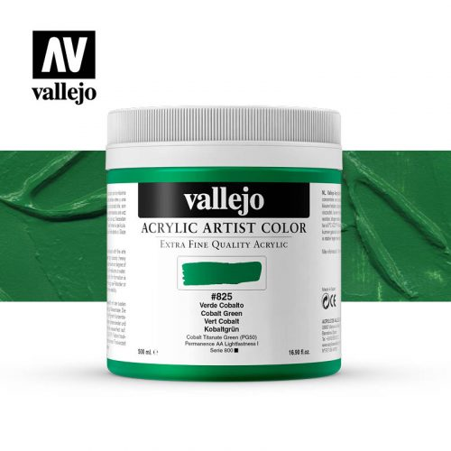 acrylic artist color vallejo cobalt green 825 500ml