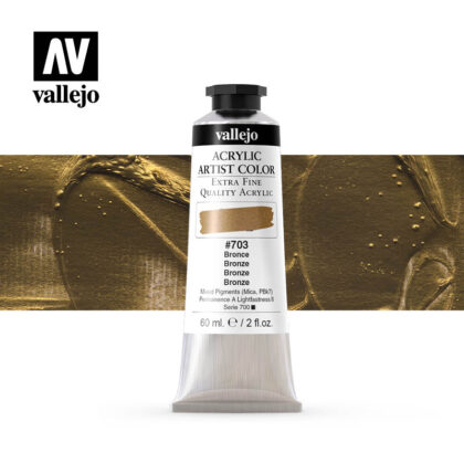 acrylic artist color vallejo bronze 703 60ml