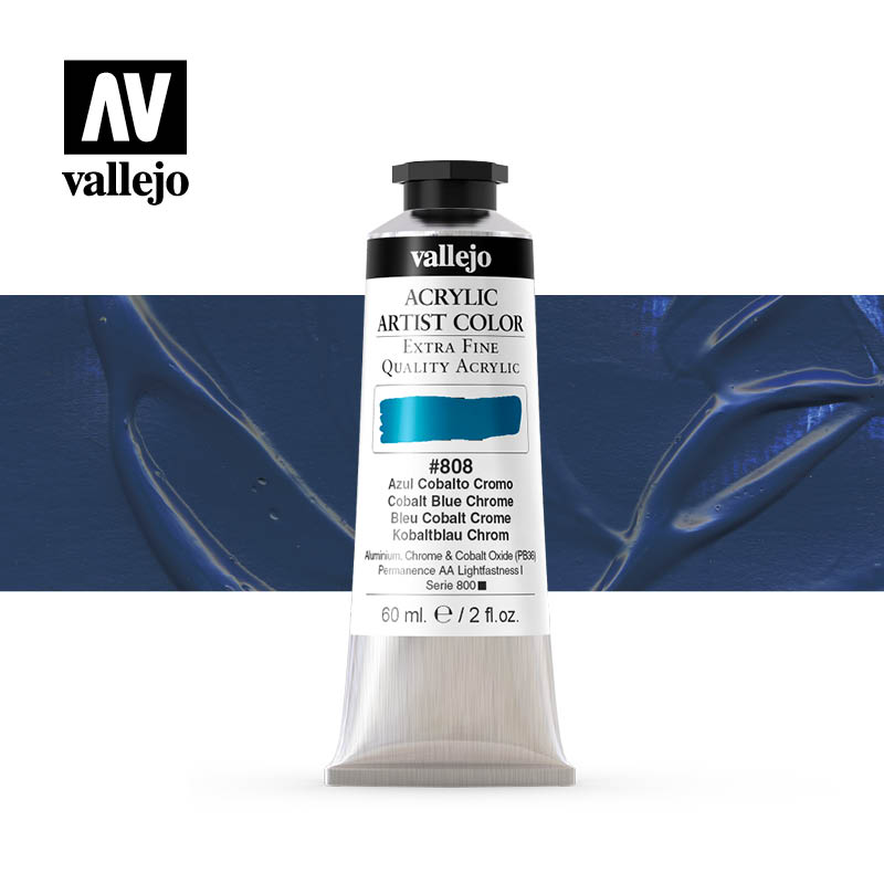 acrylic artist color vallejo cobalt blue chrome 808 60ml