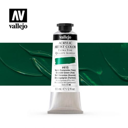 acrylic artist color vallejo emerald green hue 415 60ml