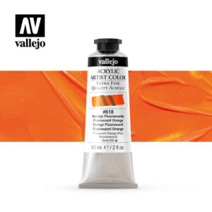acrylic artist color vallejo fluorescent orange 618 60ml