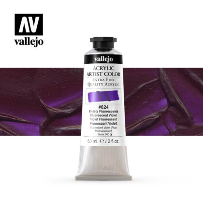 acrylic artist color vallejo fluorescent violet 624 60ml