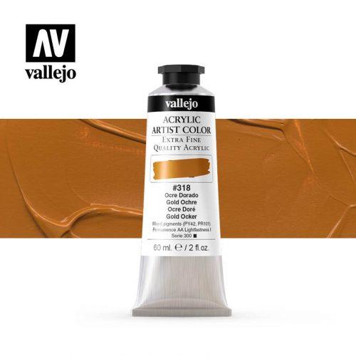 acrylic artist color vallejo gold ochre 318 60ml
