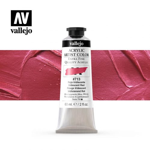 acrylic artist color vallejo iridescent red 713 60ml