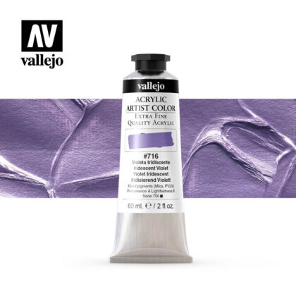 acrylic artist color vallejo iridescent violet 716 60ml