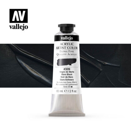 acrylic artist color vallejo mars black 309 60ml