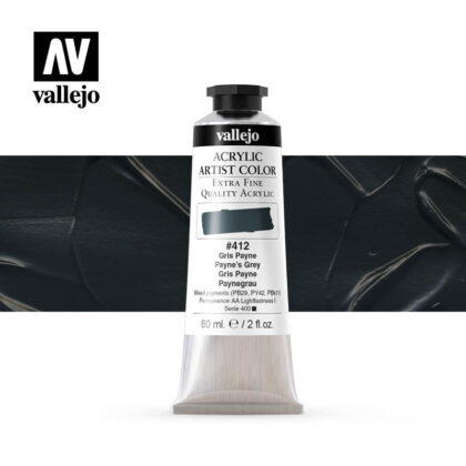 acrylic artist color vallejo paynes grey 412 60ml