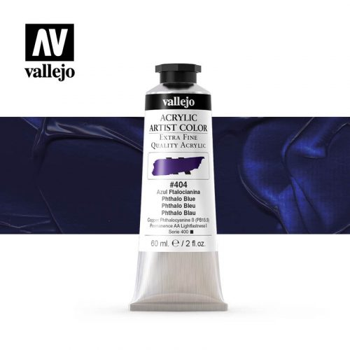 acrylic artist color vallejo phthalo blue 404 60ml