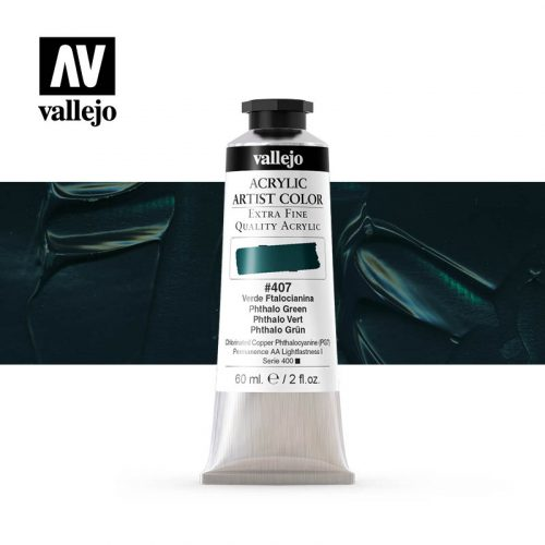 acrylic artist color vallejo phthalo green 407 60ml
