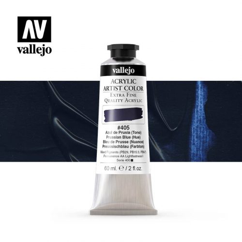 acrylic artist color vallejo prussian blue hue 405 60ml