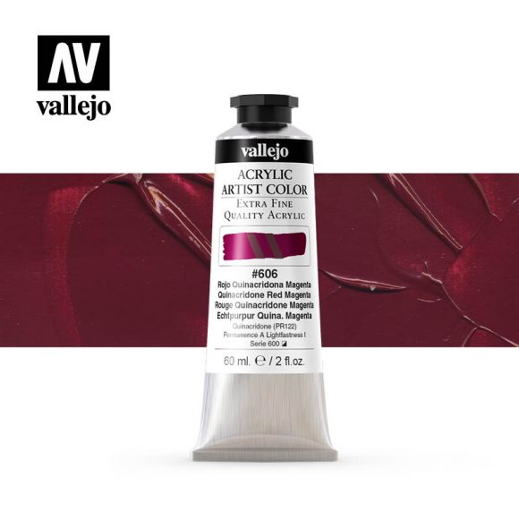 acrylic artist color vallejo quinacridone red magenta 606 60ml