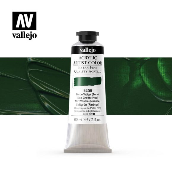 acrylic artist color vallejo sap green hue 408 60ml