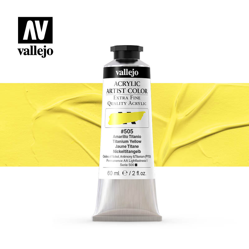 acrylic artist color vallejo titanium yellow 505 60ml