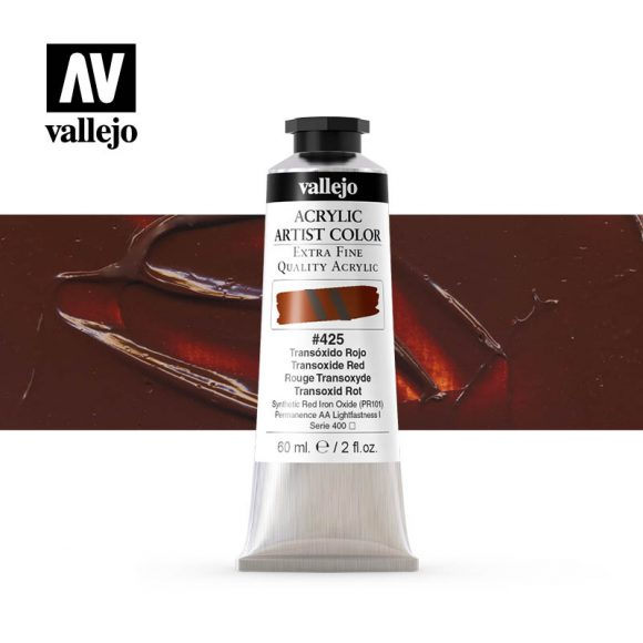 acrylic artist color vallejo transoxide red 425 60ml